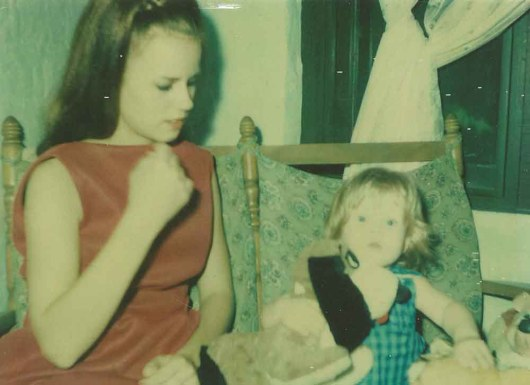 My mother and me...