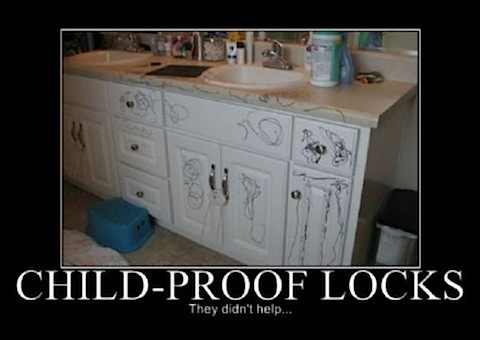 Funny Pictures Child Proof Locks Has