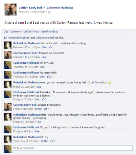 This is a real conversation between my two daughters and me. They are my gift to the world. Enjoy, World.
