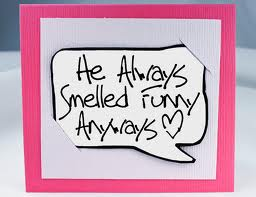 smell funny