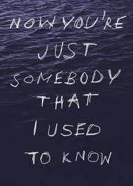 used to know