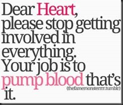 job is to pump blood