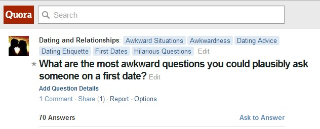pick up lines question