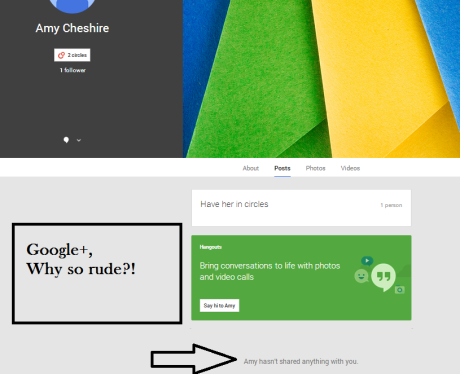 amy and google plus