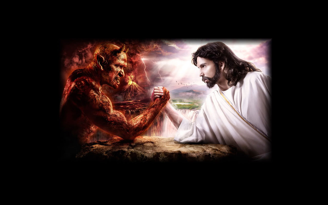 Satan Vs God Wallpaper Lets talk about what it means