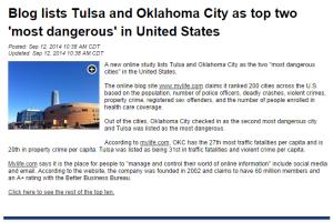 tulsa and okc dangerous