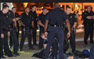 police arrest protester