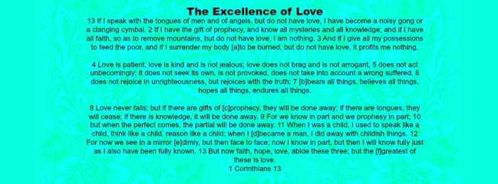 excellense of love